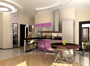 большая кухня дизайн