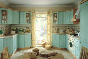 дизайн большой кухни двухрядки