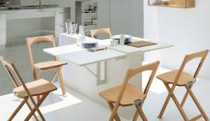 островок на кухне с откидным столом
