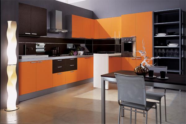кухня orange with black