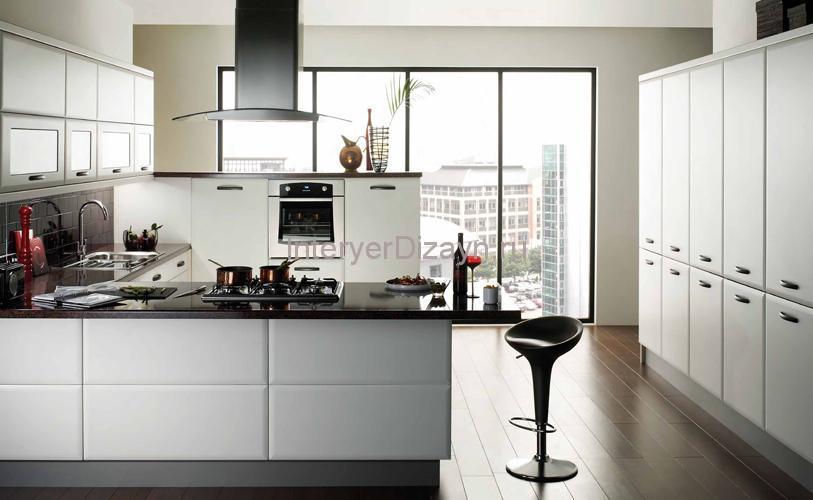 цвет кухни черно белый