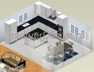 проект дизайна кухни
