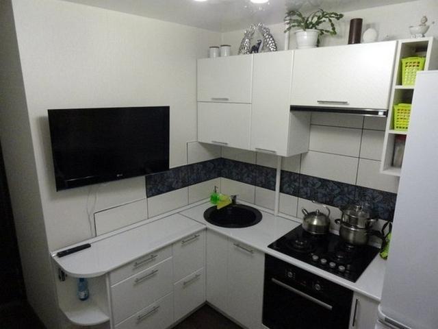 дизайн маленьких кухонь фото вид сверху
