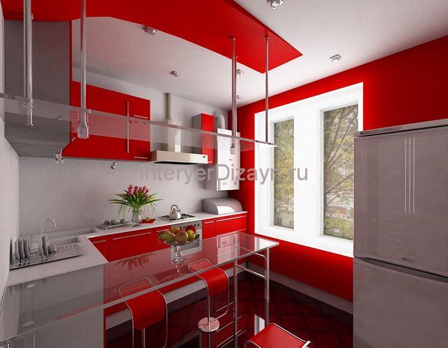 кухня в интерьере хай-тек