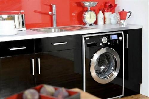 кухни с стиральной машиной фото