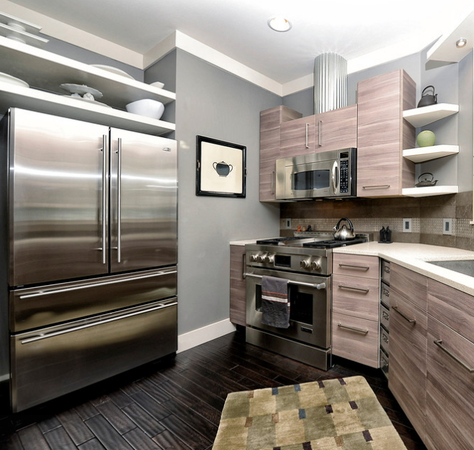 Стиль Модерн в кухне