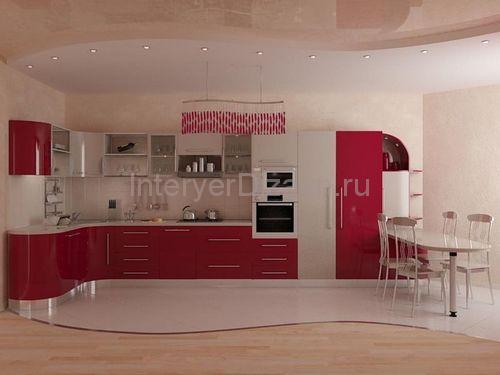 комбинированые полы на кухне