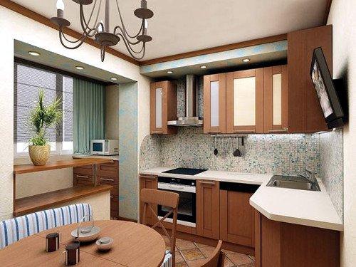 использование балкона для кухни