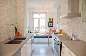 кухня с экрекром дизайн фото