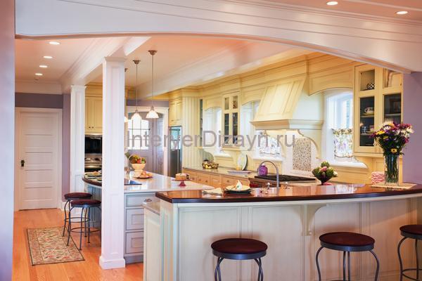 кухня со стойкой