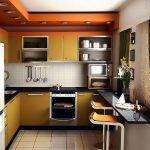 Планировка интерьера в малогабаритной кухне