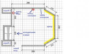 Дизайн трехкомнатной квартиры п44