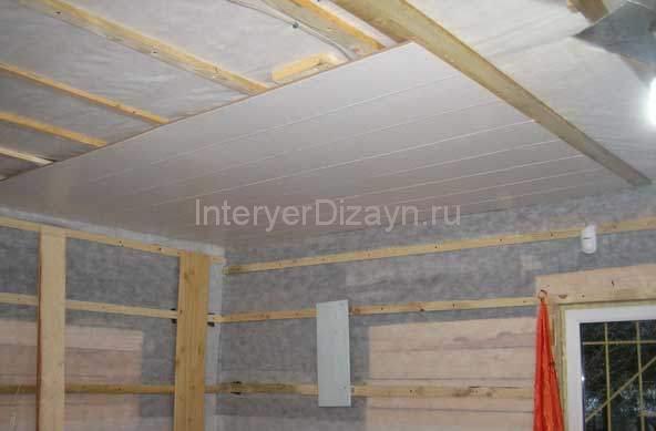 Как сделать потолок своими руками из панелей пвх