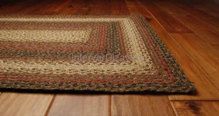 плетенный коврик в кухню