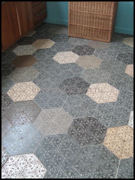 пол плитка на кухню