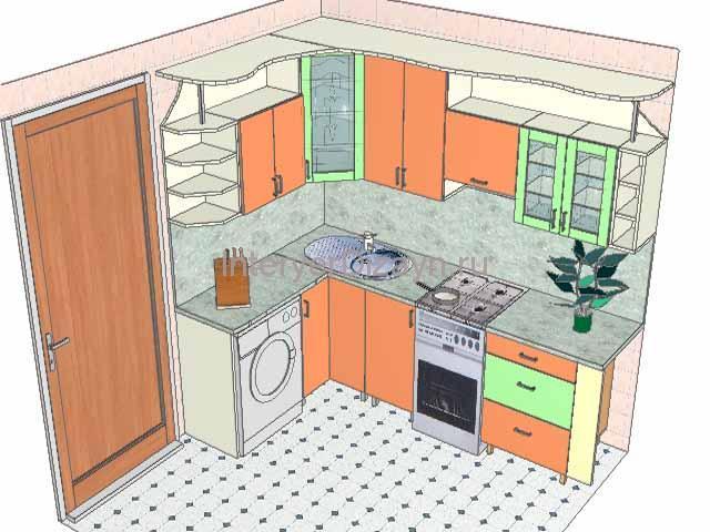 проект хрущевки кухни