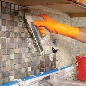 ремонт кухонной стены