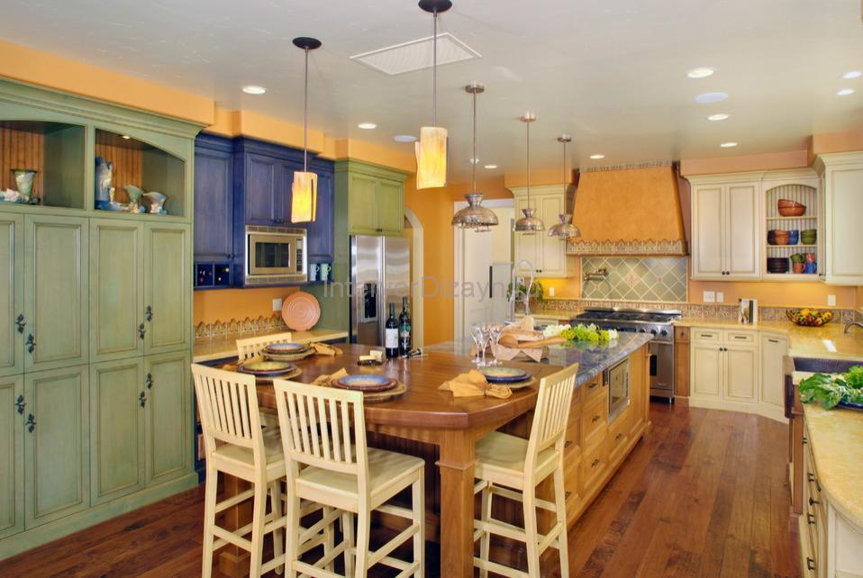 освещение на кухне прованс