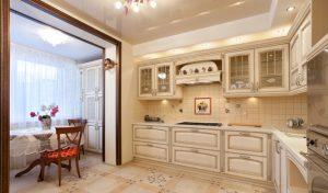 кухня с балконом полное объединение