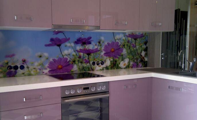 Фартук для кухни из пластика с фотопечатью