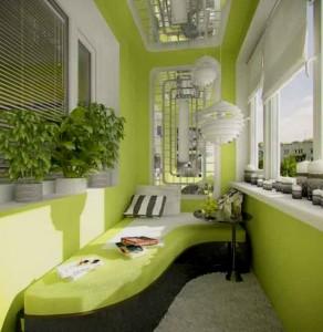 Балкон совмещённый с кухней — место для релакса