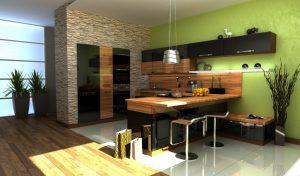 авторский дизайн кухни студии