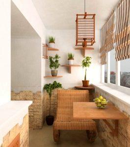 балкон обеденная зона