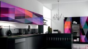 глянцевая кухонная мебель из акриловых панелей