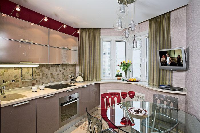 Дизайн кухни в доме п44т
