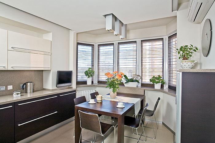 Дизайн кухни 14 квм с эркером