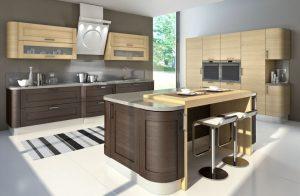 кухни из шпона цвета венге