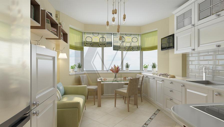 Дизайн кухни в домах серии п-44 фото без эркера