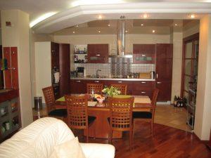кухня совмещенная с гостиной островком