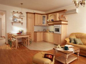 кухня совмещенная с коридором в кухню студию