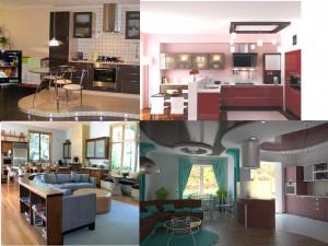 кухня студия с евро ремонтом