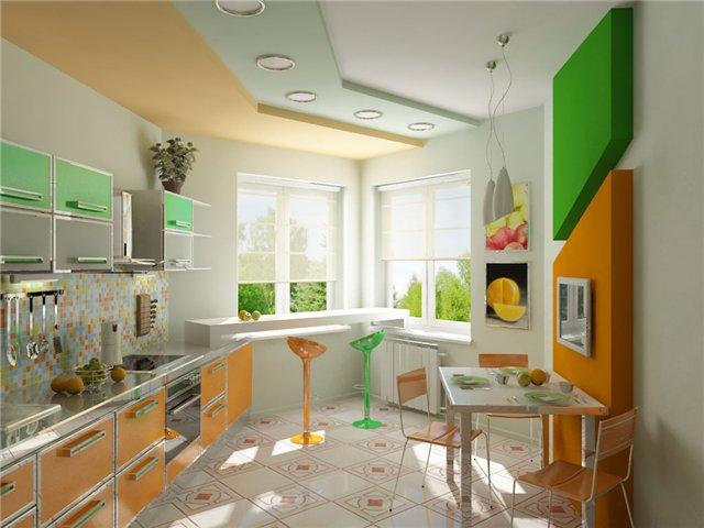 Дизайн треугольная кухня