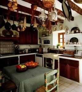 кухня 9 кв м стиль кантри