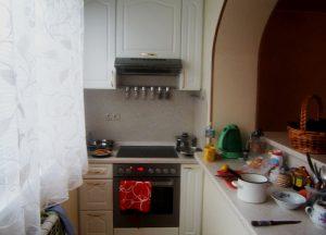 кухонная рабочая зона на балконе