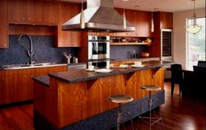 островная кухня два уровня
