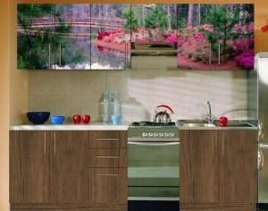 оформление одного фасада кухни