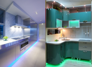 подсветка кухонной мебели