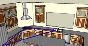 рабочий треугольник островной кухни