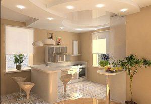 светлая кухня студия