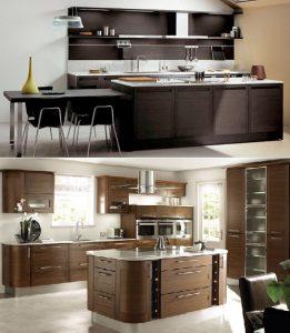 темная и светлая кухня венге