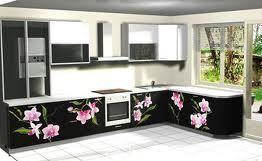 фотопечать на нижнем фасаде кухни