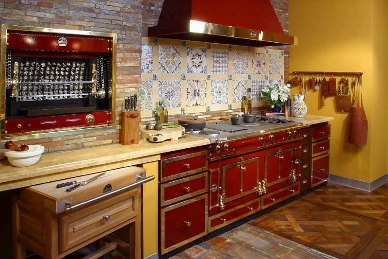 Дизайн кухни в стиле ретро