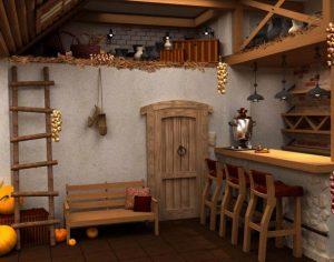 дизайн кухни в старинном русском стиле