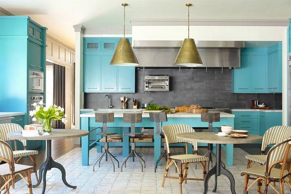 кухня в стиле современной кофейни