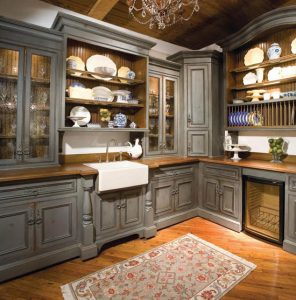 мебель для кухни в стиле американского кантри