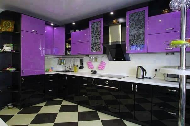 цвет кухни фиолет